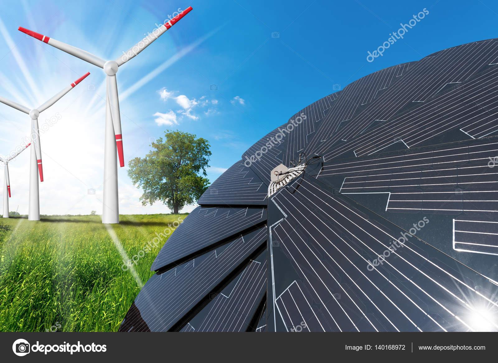 Pannelli solari e turbine eoliche foto stock catalby for Pannelli solari immagini