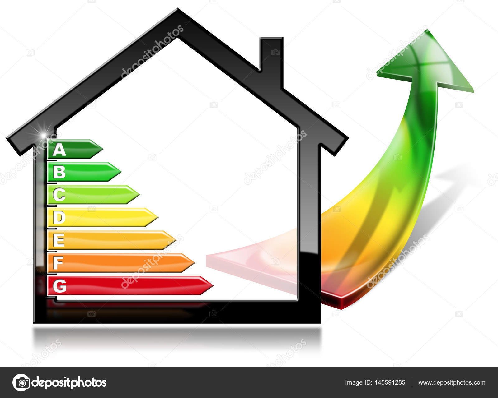 efficacité énergétique - maison avec économie d'énergie