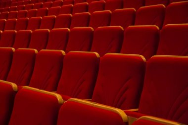 Chairs concert hall without people