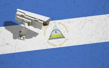 CCTV camera on flag of Nicaragua