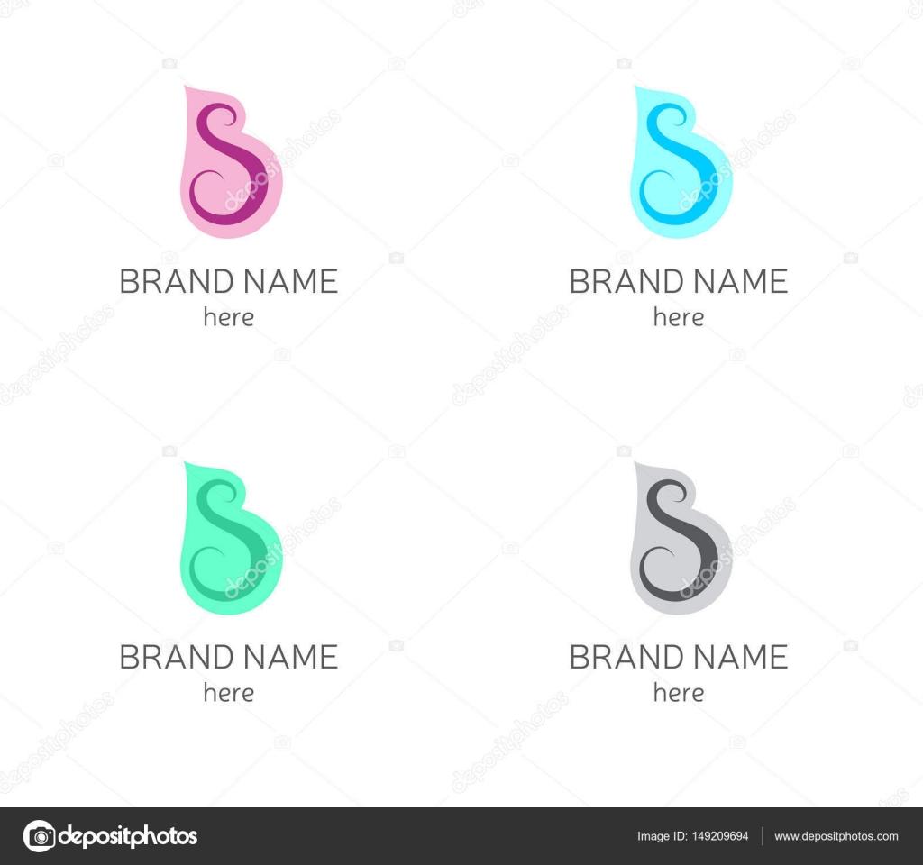 Anfangsbuchstaben Vektor Logo Sb Bs S Innen Form B In Pastell Farben
