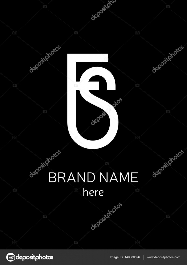 Stylish logo in fashion style letters fs or sf stock vector stylish logo in fashion style letters fs or sf stock vector buycottarizona Gallery