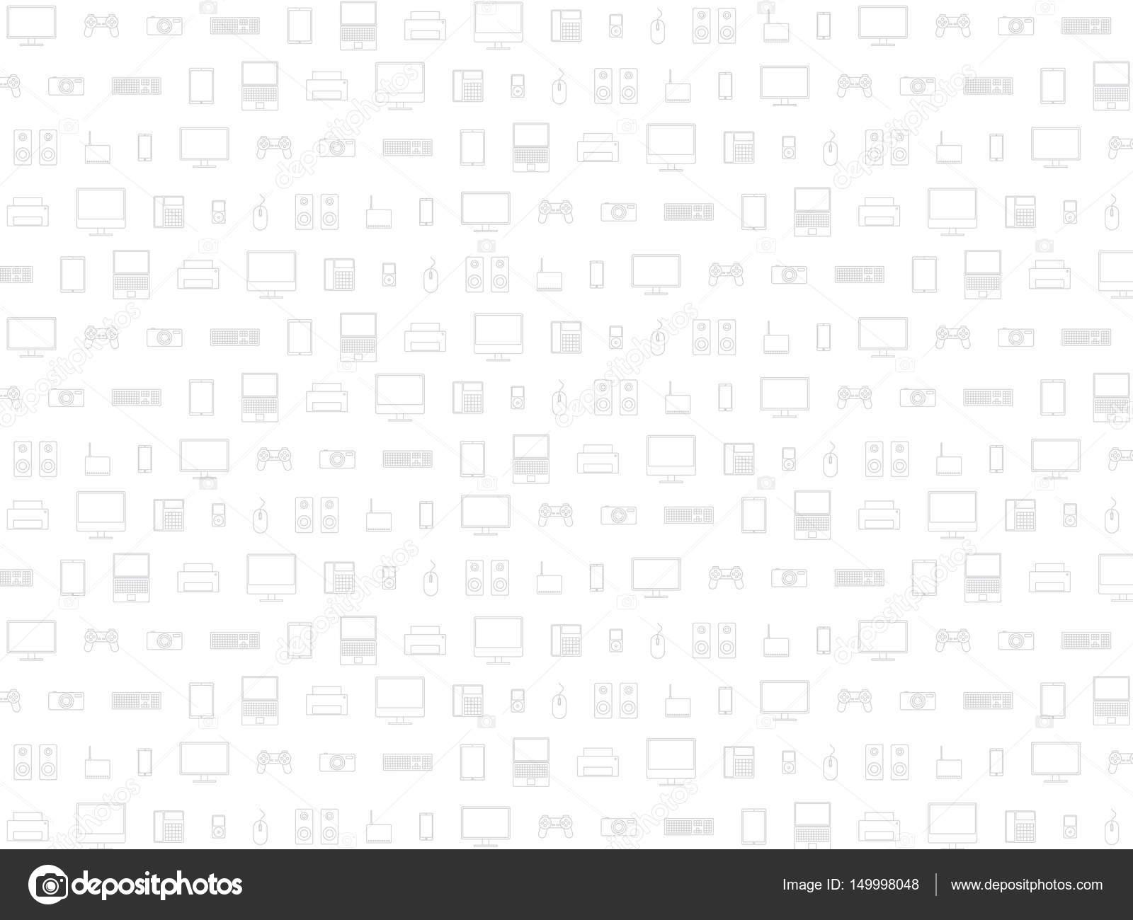 Computer Hardware Icons — Stockvektor © azatvaleev #149998048