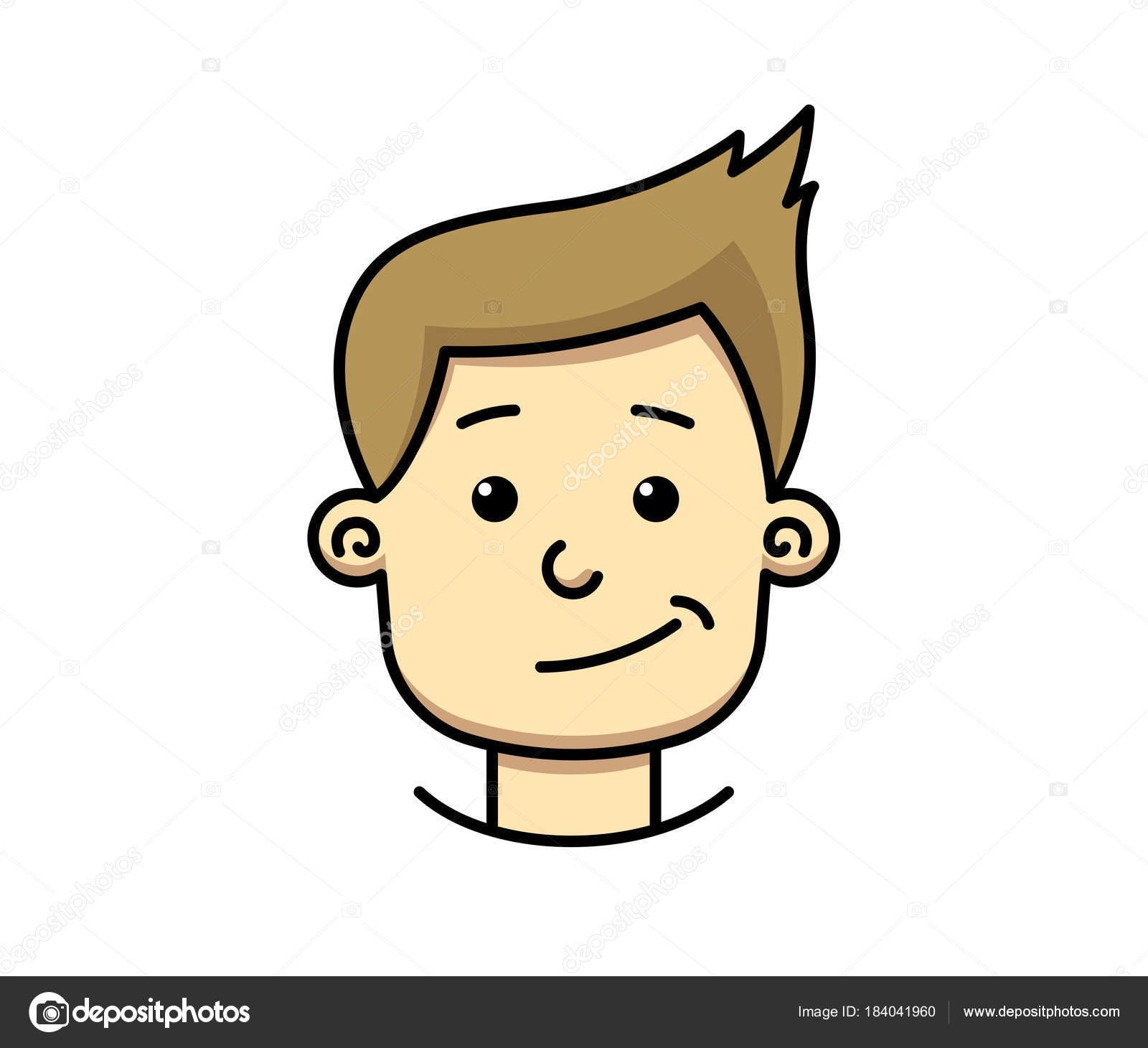 Junger Mann Junge Teenager lässig Kopf Gesicht mit Lächeln Grinsen ...