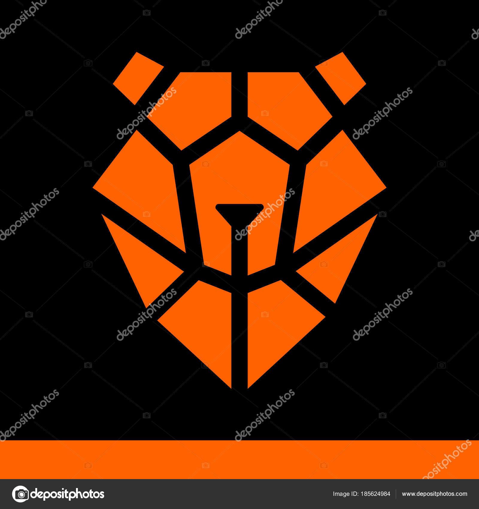 Schematische Gesicht des Bären von geometrischen Figuren ...