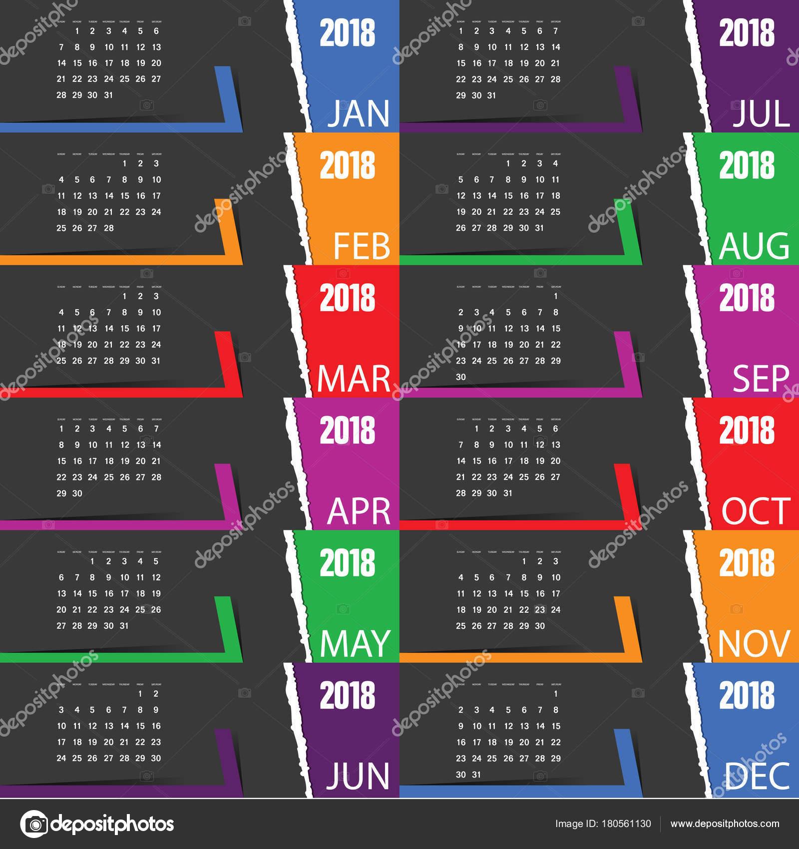 2018 aug calendar