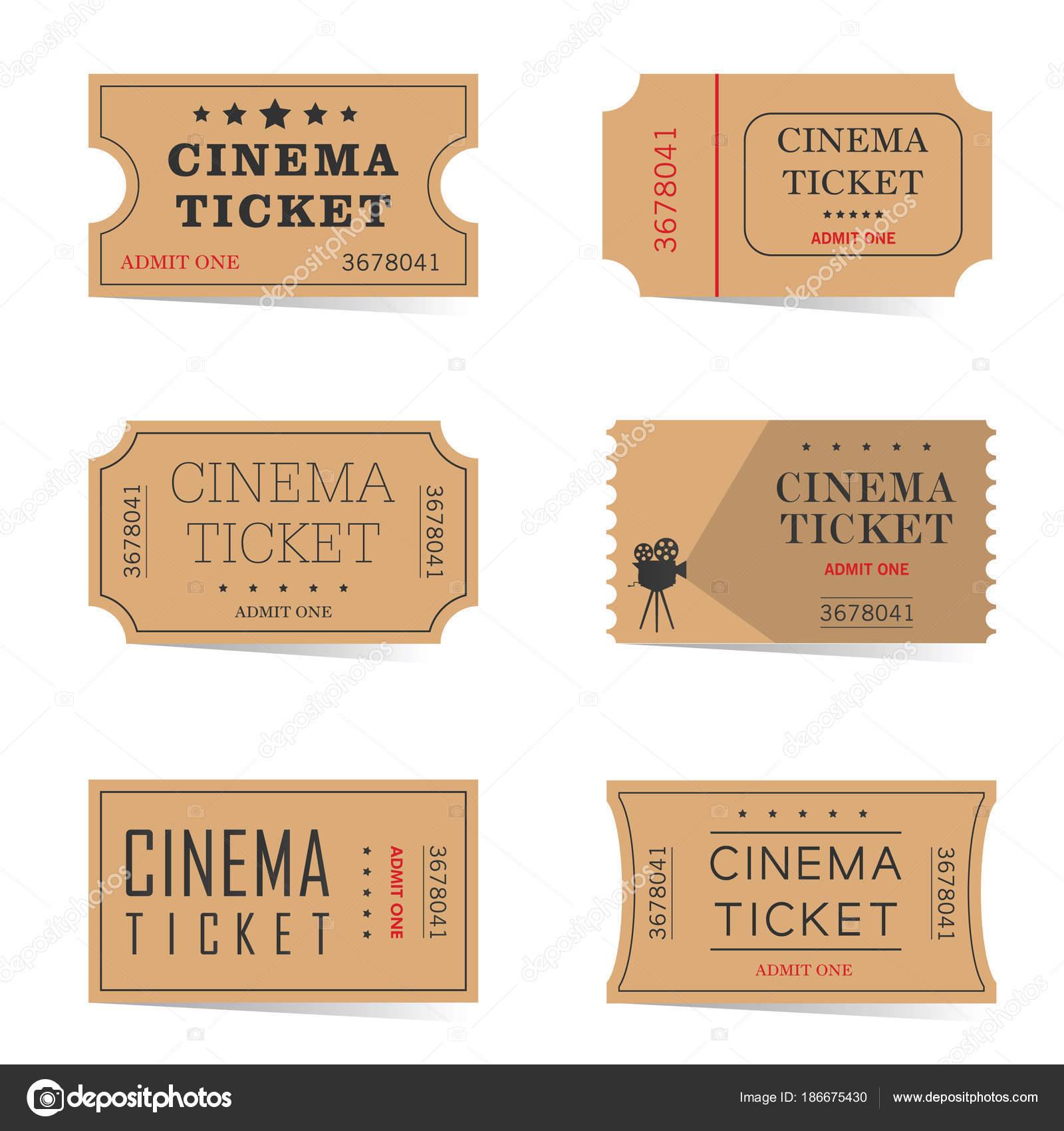 Kino-Ticket alten Set Abbildung — Stockvektor © drgaga #186675430