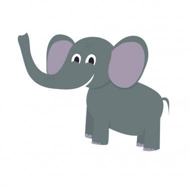 Flat painted elephant