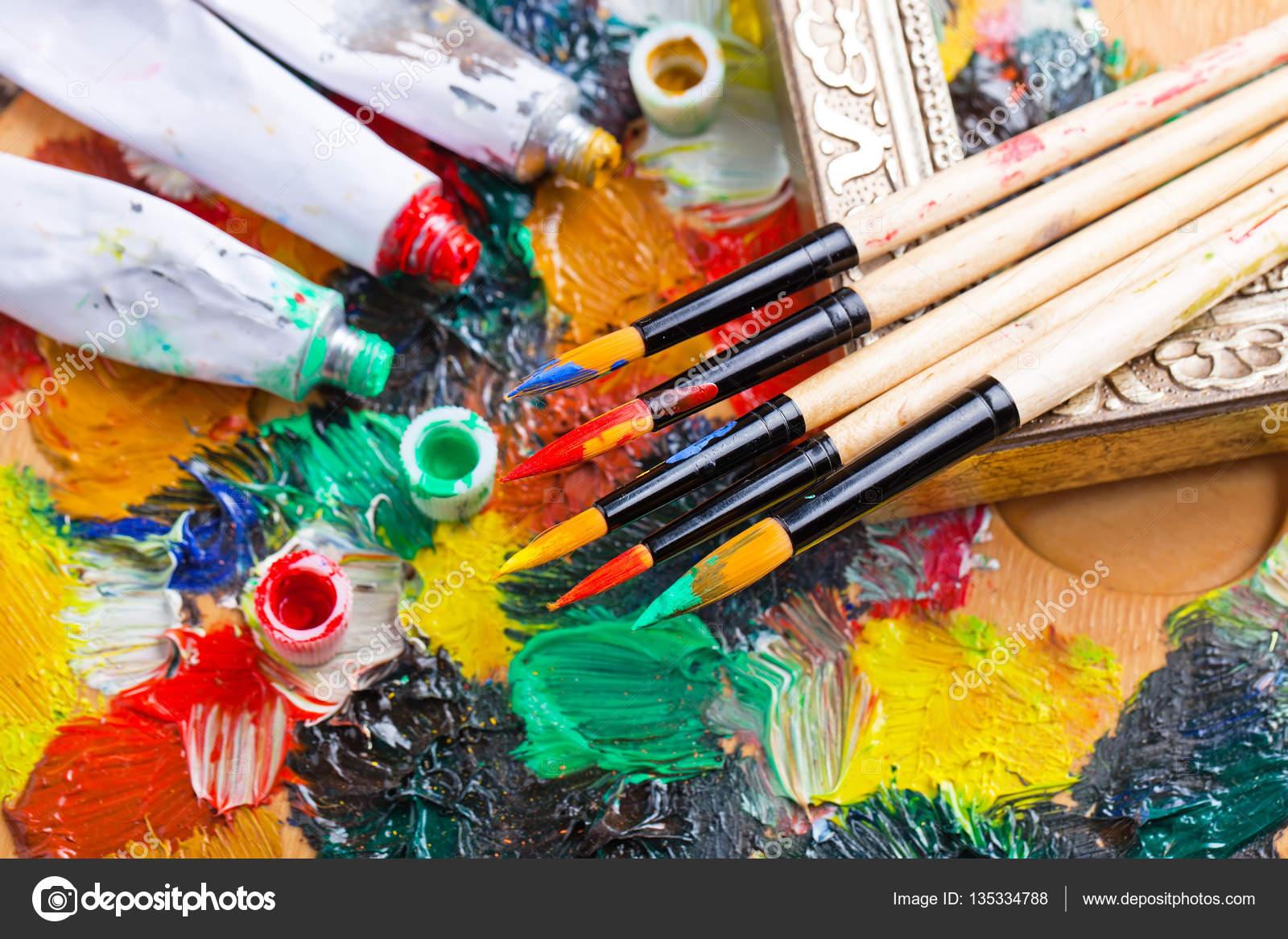 Imágenes Para Pintar Cuadros Pinturas Y Pincel Para Dibujar