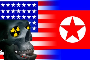 Usa vs north korea graphic concept