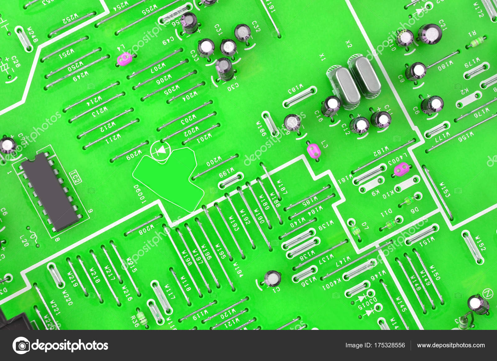 Circuit Board Background Stock Photo Unkas 175328556