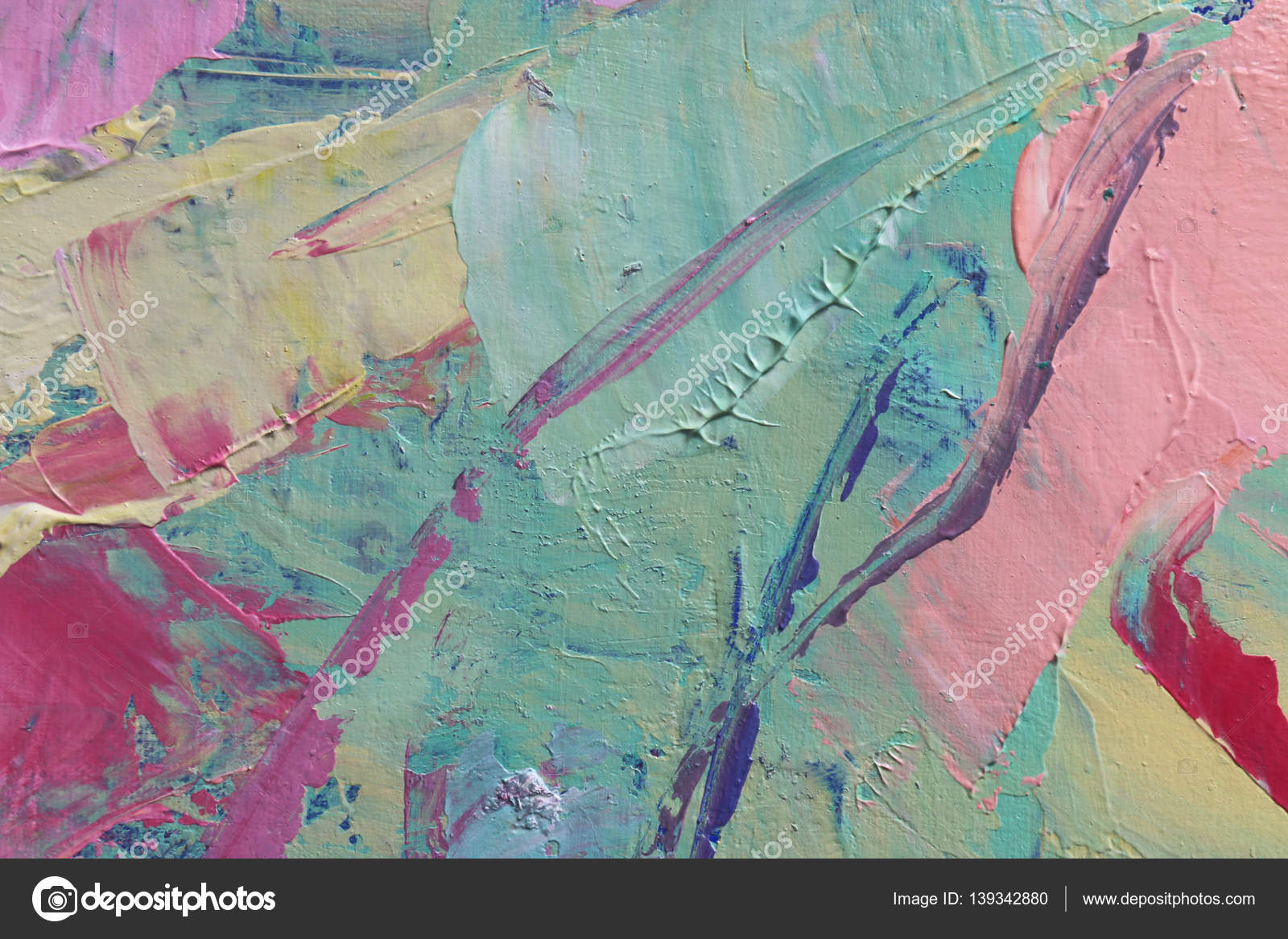Multicolored oil paint texture Abstract art background Oil on