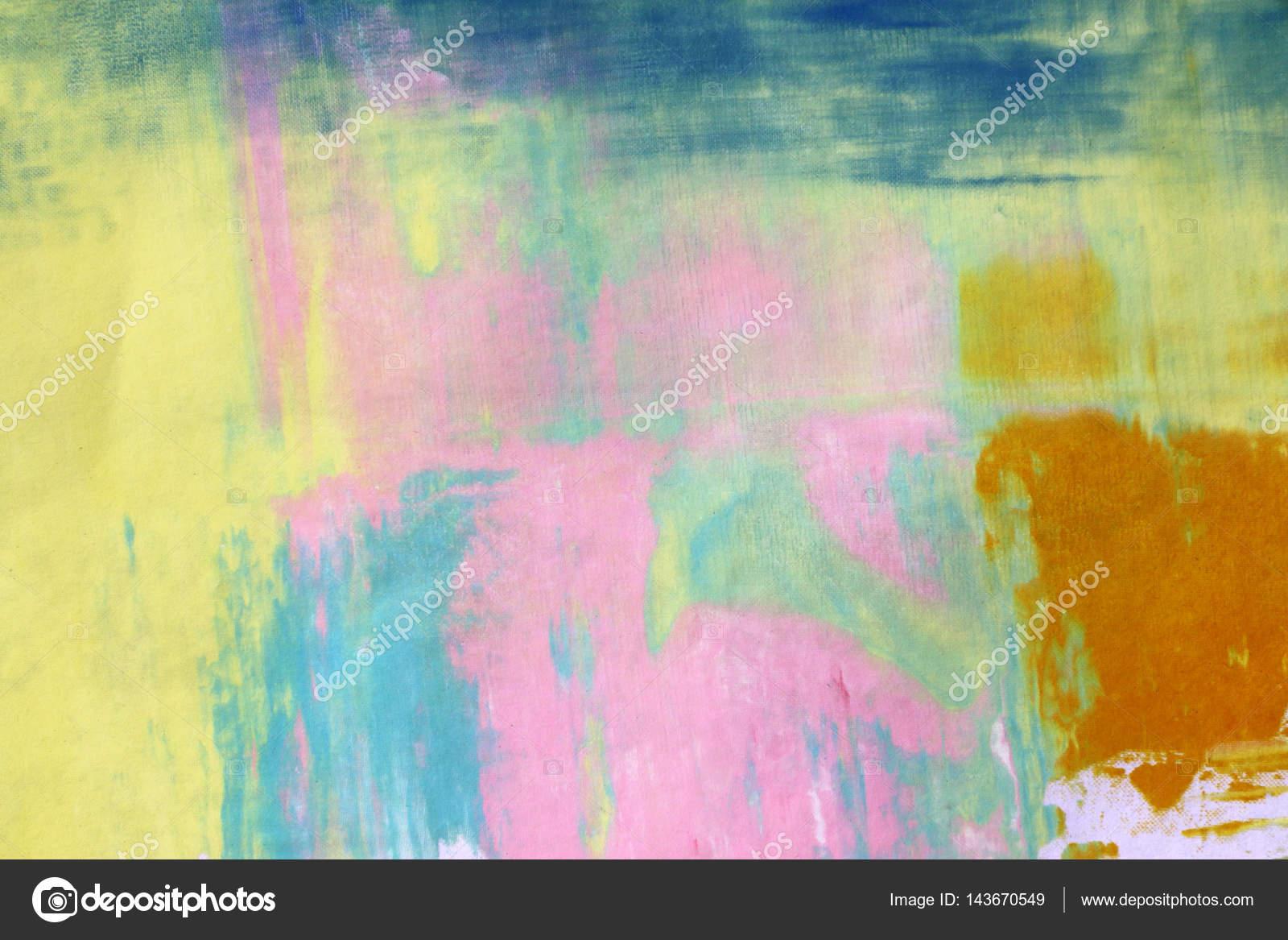 Abstrakte Kunst Hintergrund. Siebdruck auf Papier. Bunten ...