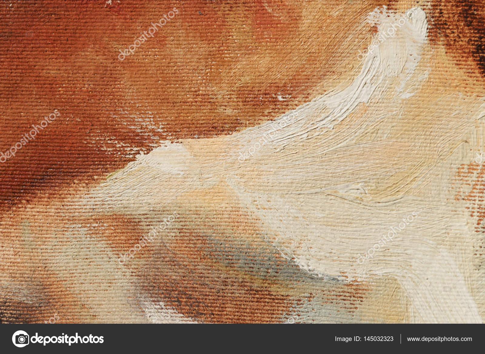 Abstrakte Kunst Hintergrund. Öl auf Leinwand. Warme Farben. Weiche ...