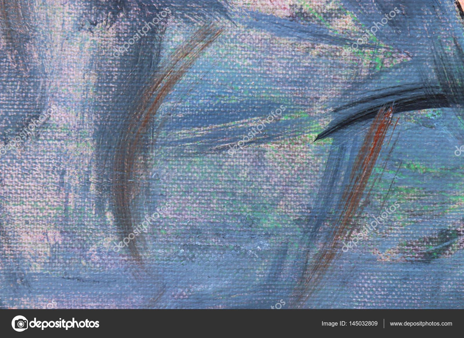 Mehrere Farben abstrakt Hintergrund. Acryl auf Leinwand. Weiche ...