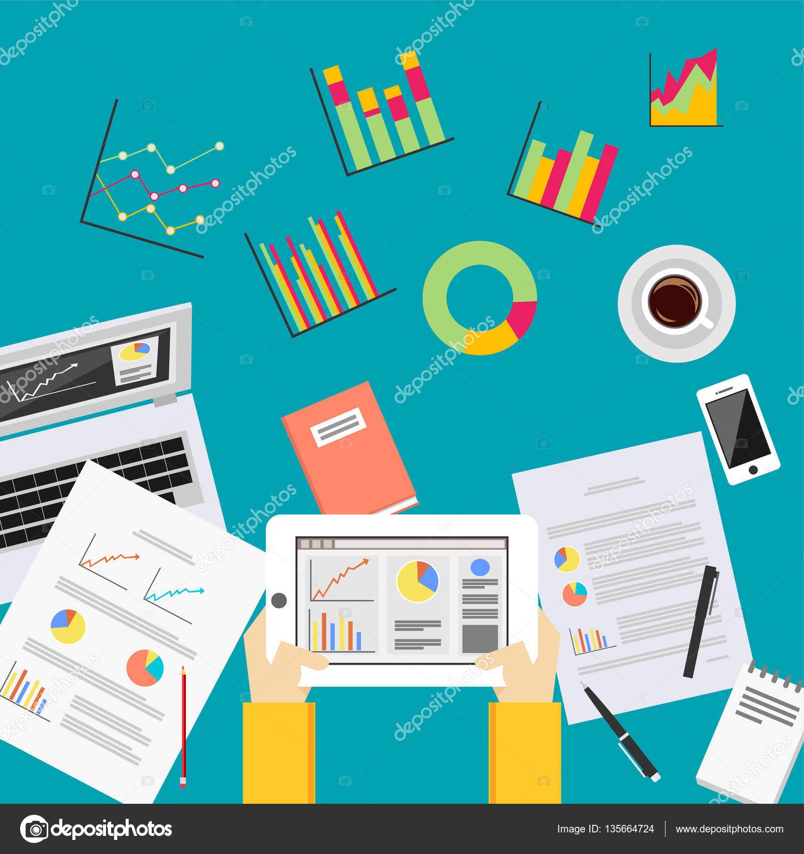 Analytique De Donnees Commerciales Concept D Analyse Statistiques