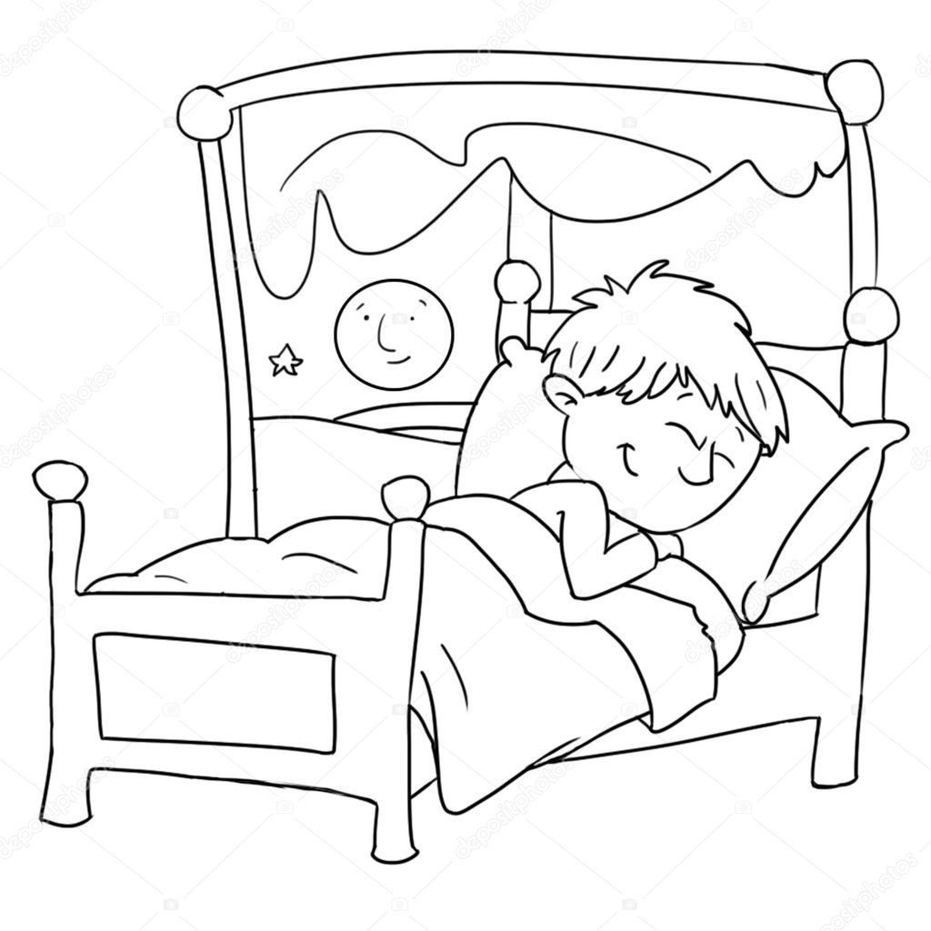 Drawings To The Coloring Section Of A Baby With Alarm Clock Baby