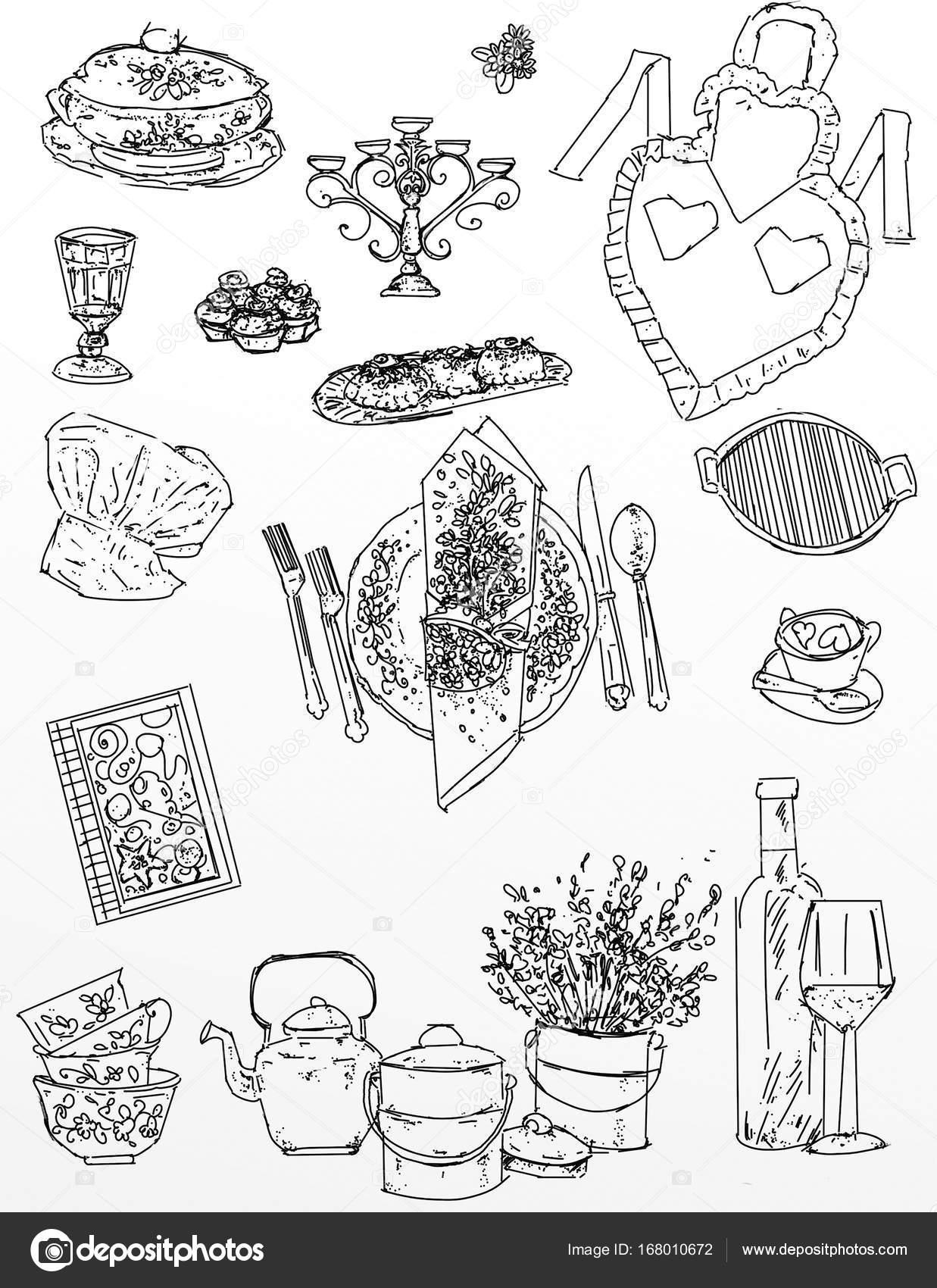 Fotografie: icone alimentari | disegni realistici per il tratto di ...
