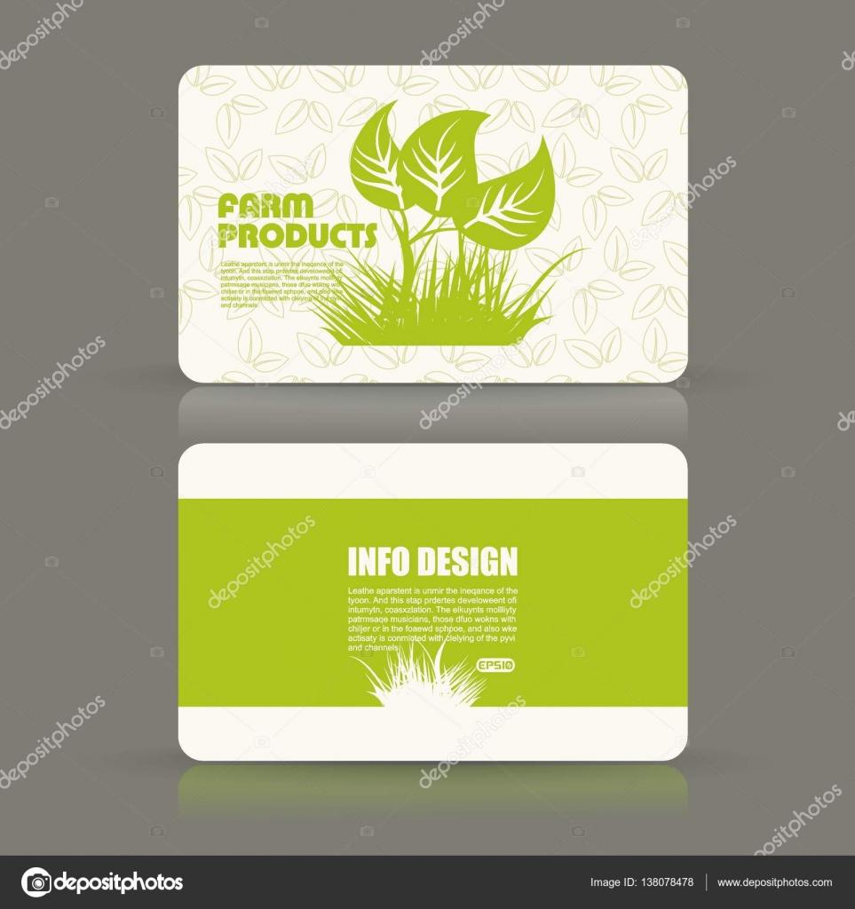 Card set eco design, organic foods shop or vegan cafe business card ...