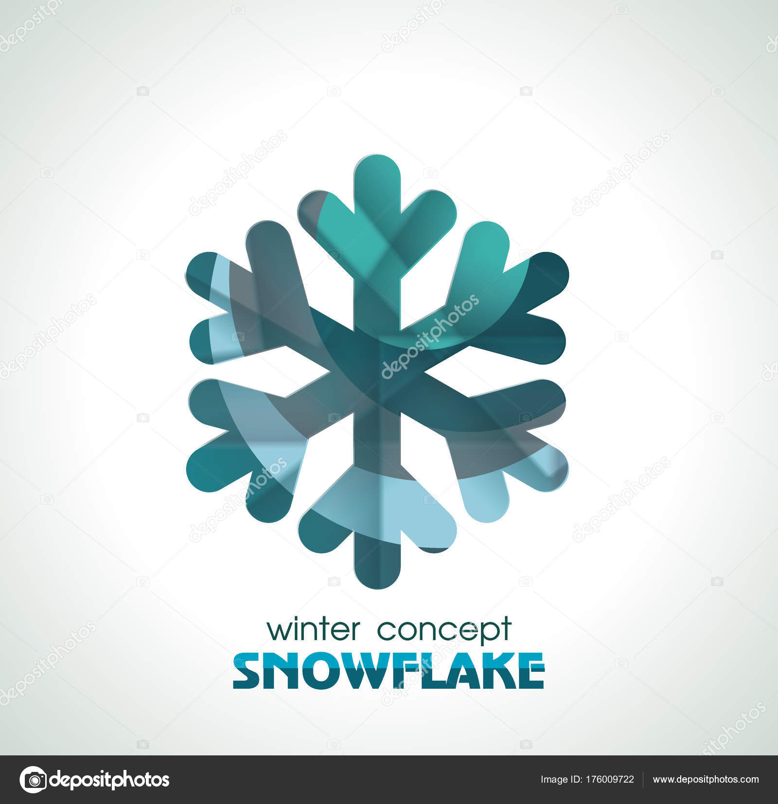 Snowflake Sign Vector Symbol Of Winter Christmas And New Year