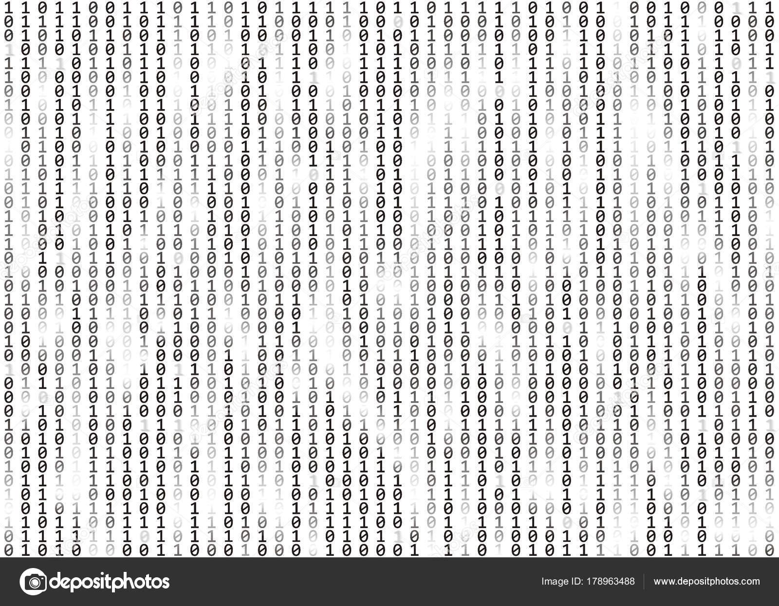 Binary code background  Data, technology, decryption