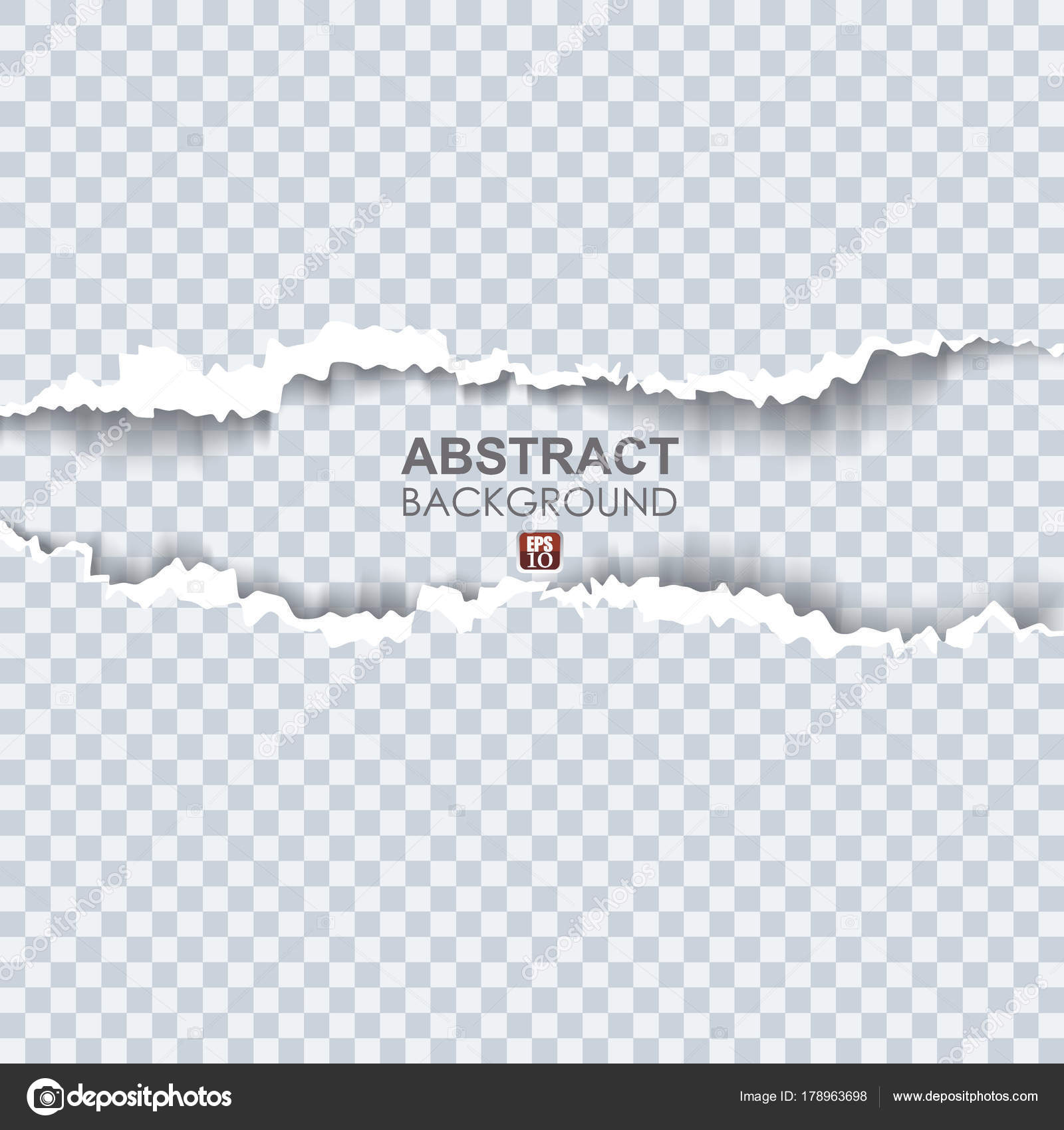 Vector illustration of torn paper with ripped edges — Stock Vector