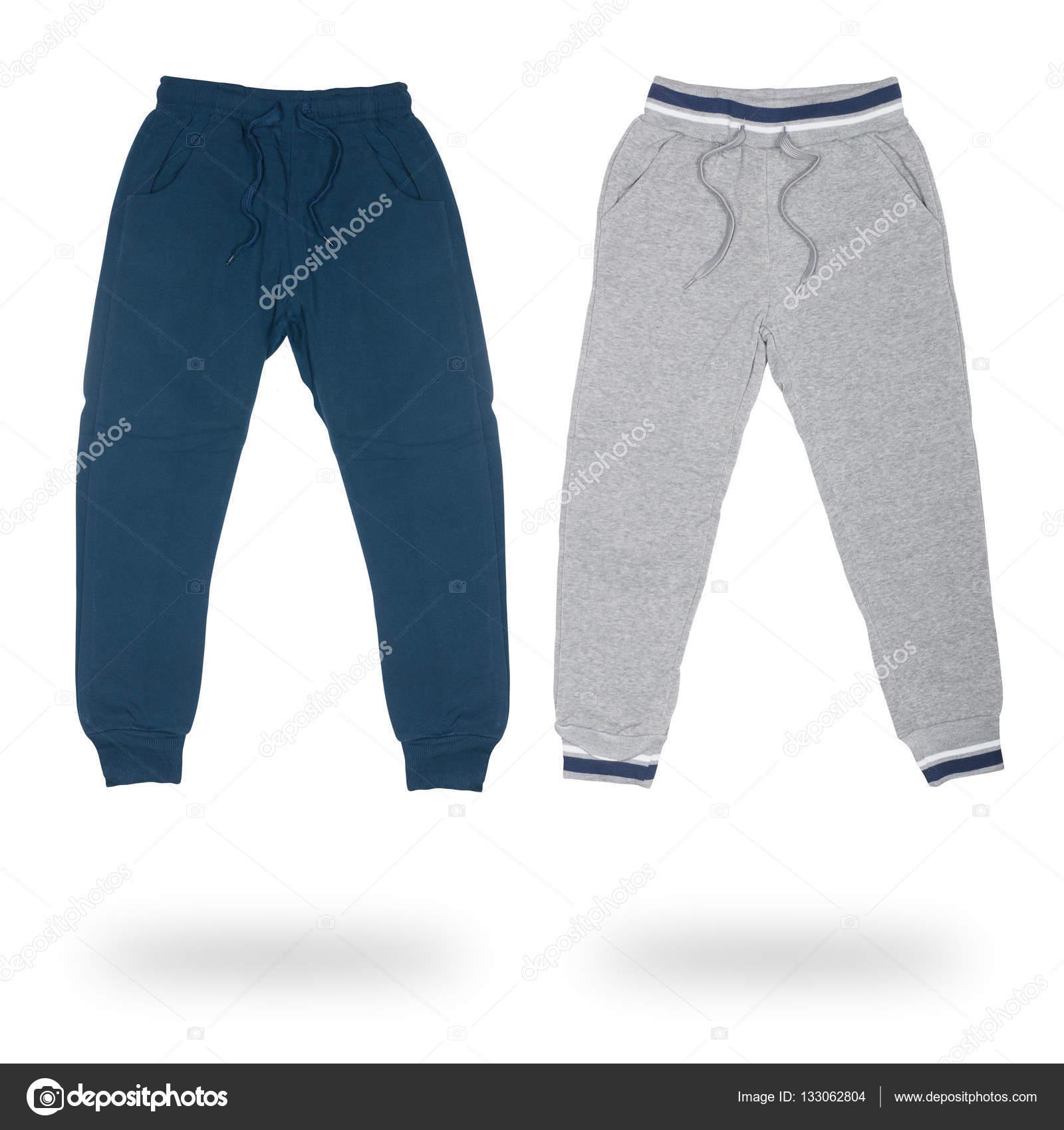 99c5842aa8a Δύο αθλητικά παντελόνια για αγόρια απομονώνονται — Φωτογραφία Αρχείου