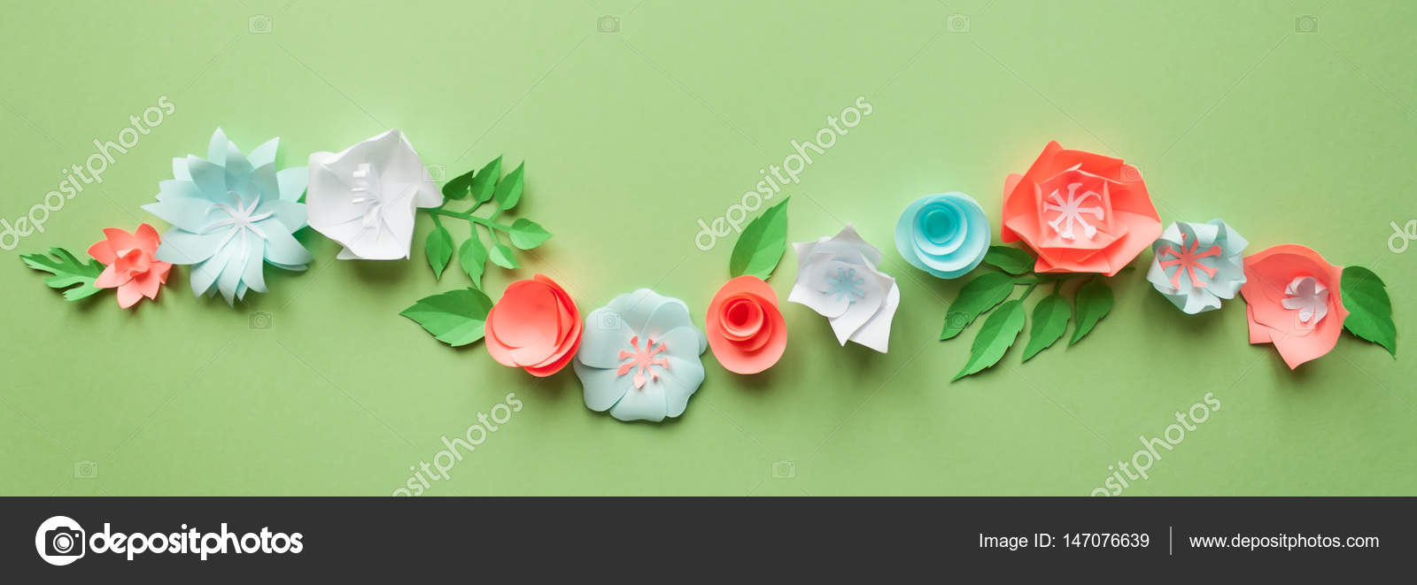 Frame with color paper flowers on the green background flat lay frame with color paper flowers on the green background flat lay nature concept mightylinksfo