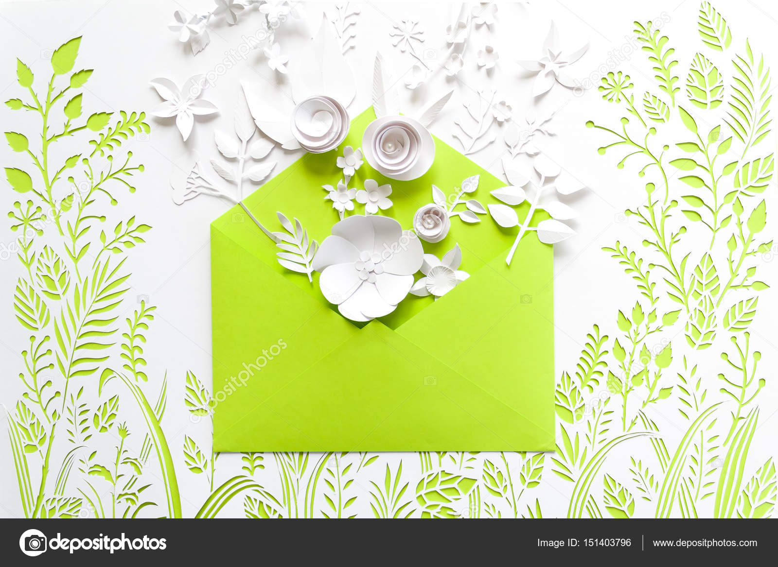 Opened craft paper envelope full of spring blossom sakura paper opened craft paper envelope full of spring blossom sakura paper flowers on white background top jeuxipadfo Gallery