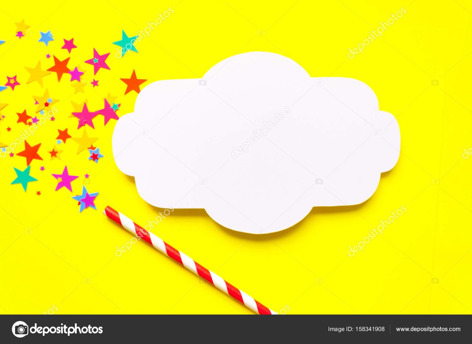 frame. magic wand on yellow background — Stock Photo © masalskaya ...