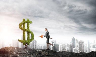 Make your money grow concept