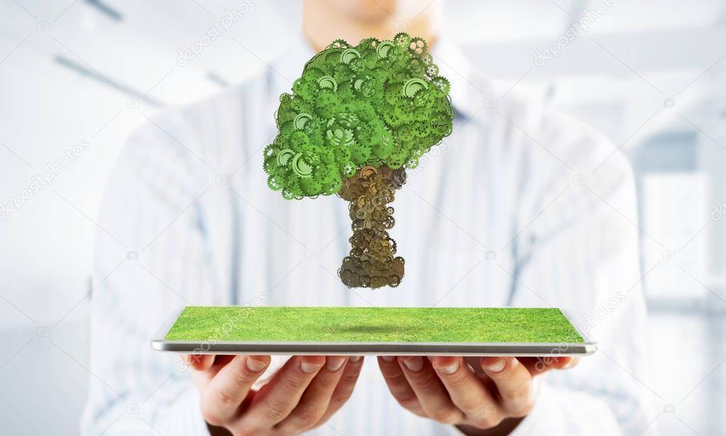 Eco green environment concept