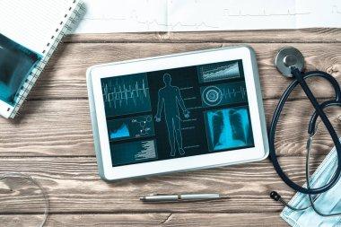 Digital technologies in medicine concept