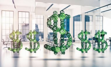 Making money and wealth represented by dollar sign