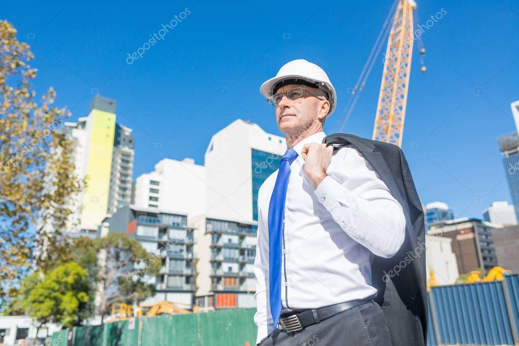 Confident construction engineer
