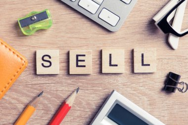 Office stuff and SELL word