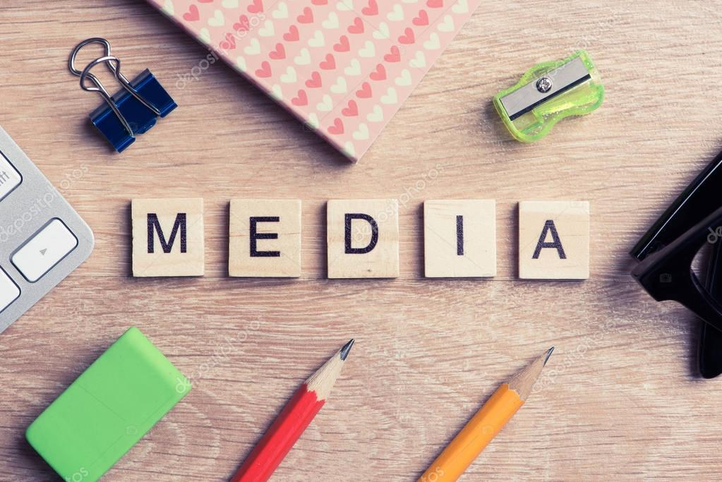 Mass media conceptual words
