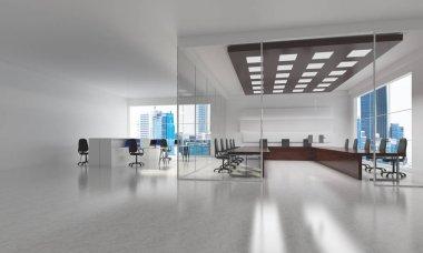 Modern empty elegant office