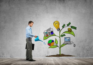 investment and financial growth concept