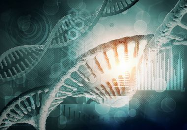 DNA molecules background