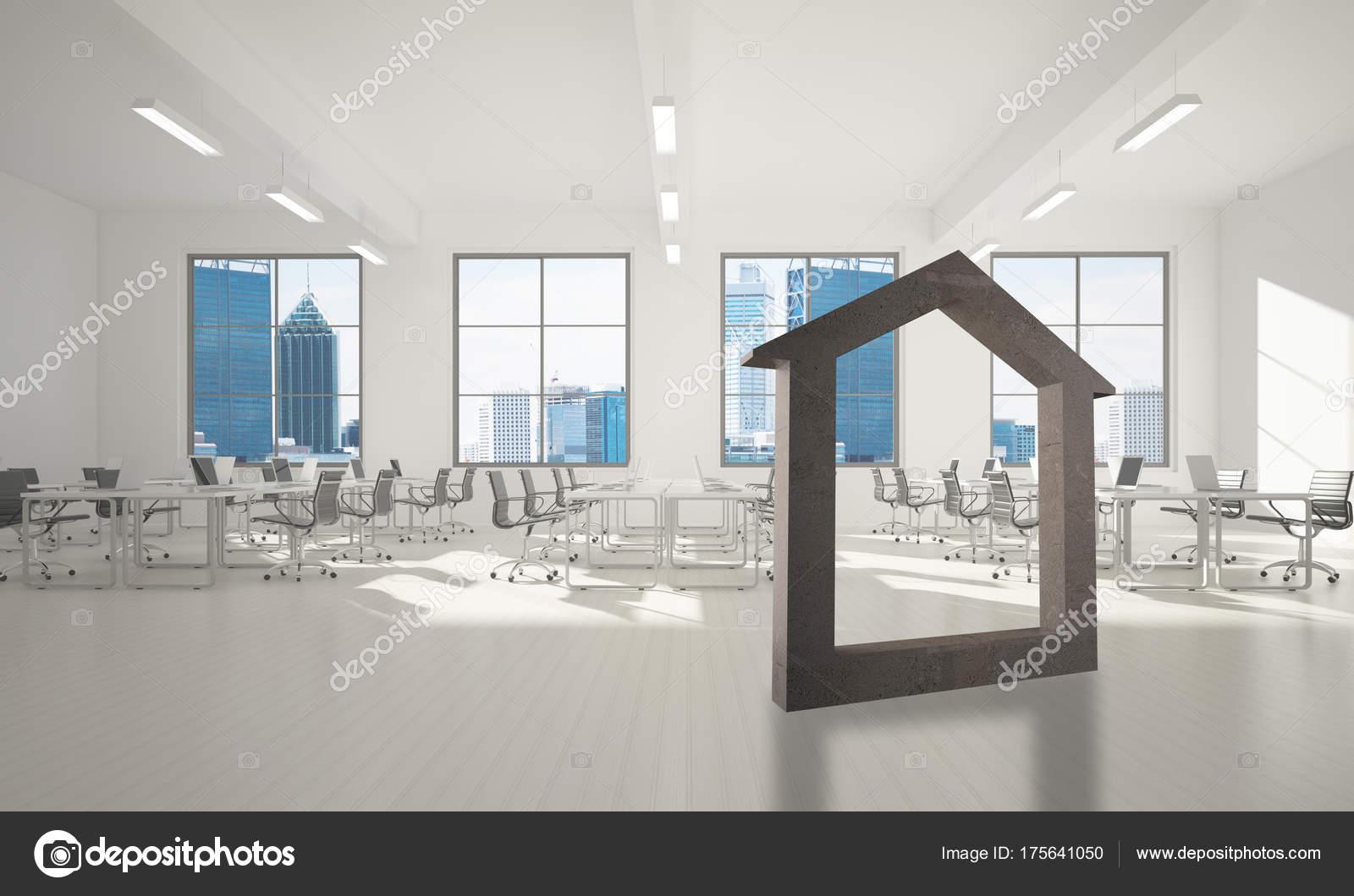 Steen In Interieur : Huis steen figuur als symbool van onroerend goed moderne kantoor