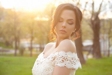 pretty young bride posing