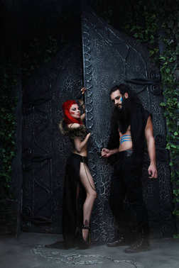 beautiful dark fashion couple