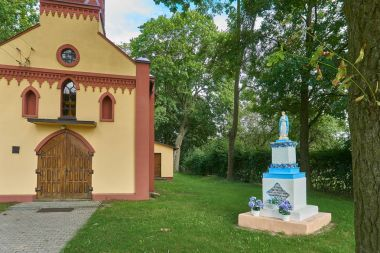 Biale, Poland - August 04, 2017: Church p.w. St. Joseph in Biale, Gostynin. Poland. Was elevated in 1636, with the consent of Bishop Stanislaw Lubienski.