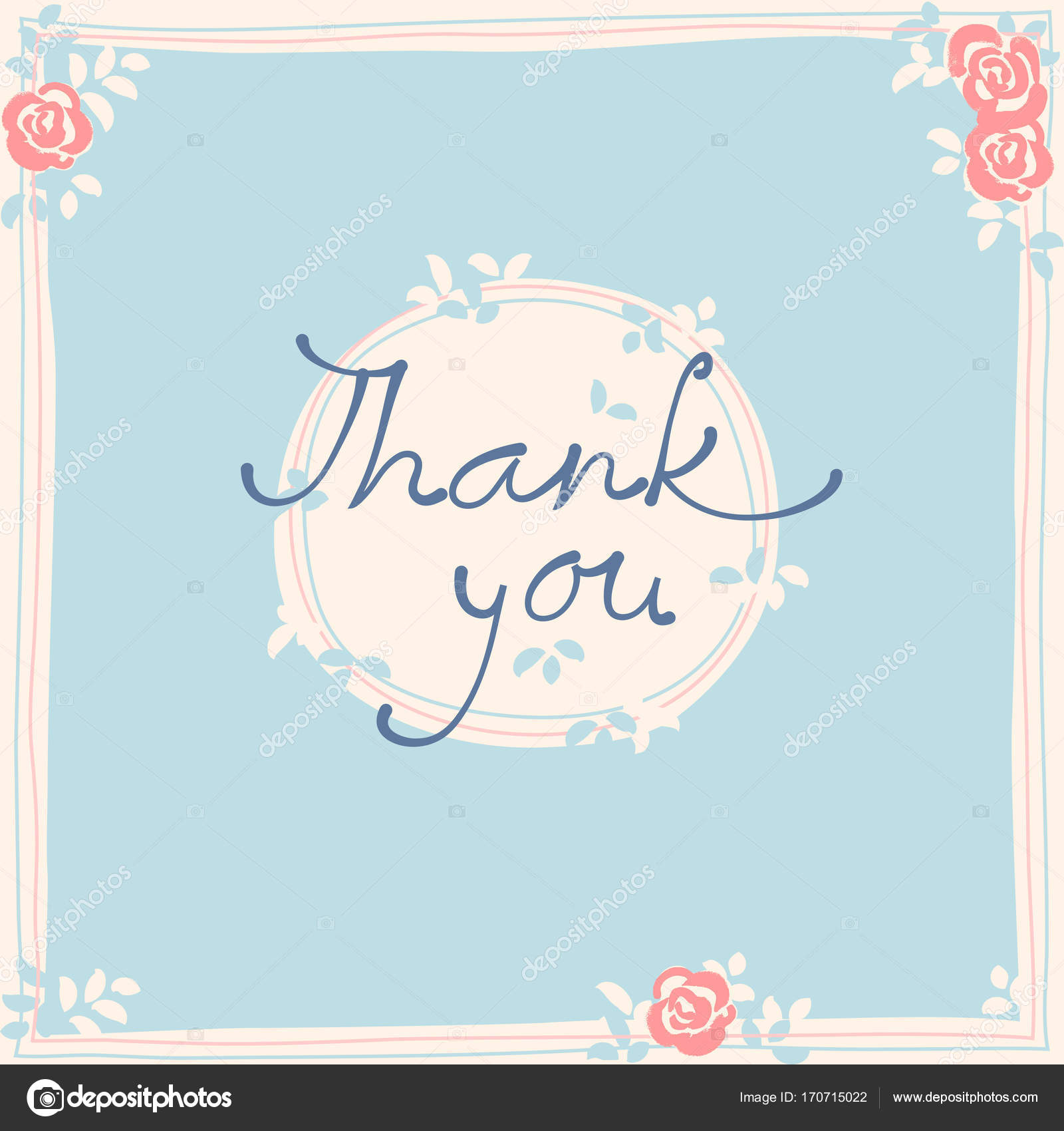 Thank you card design template simple greeting card elegant not thank you card design template simple greeting card elegant not stock vector kristyandbryce Gallery