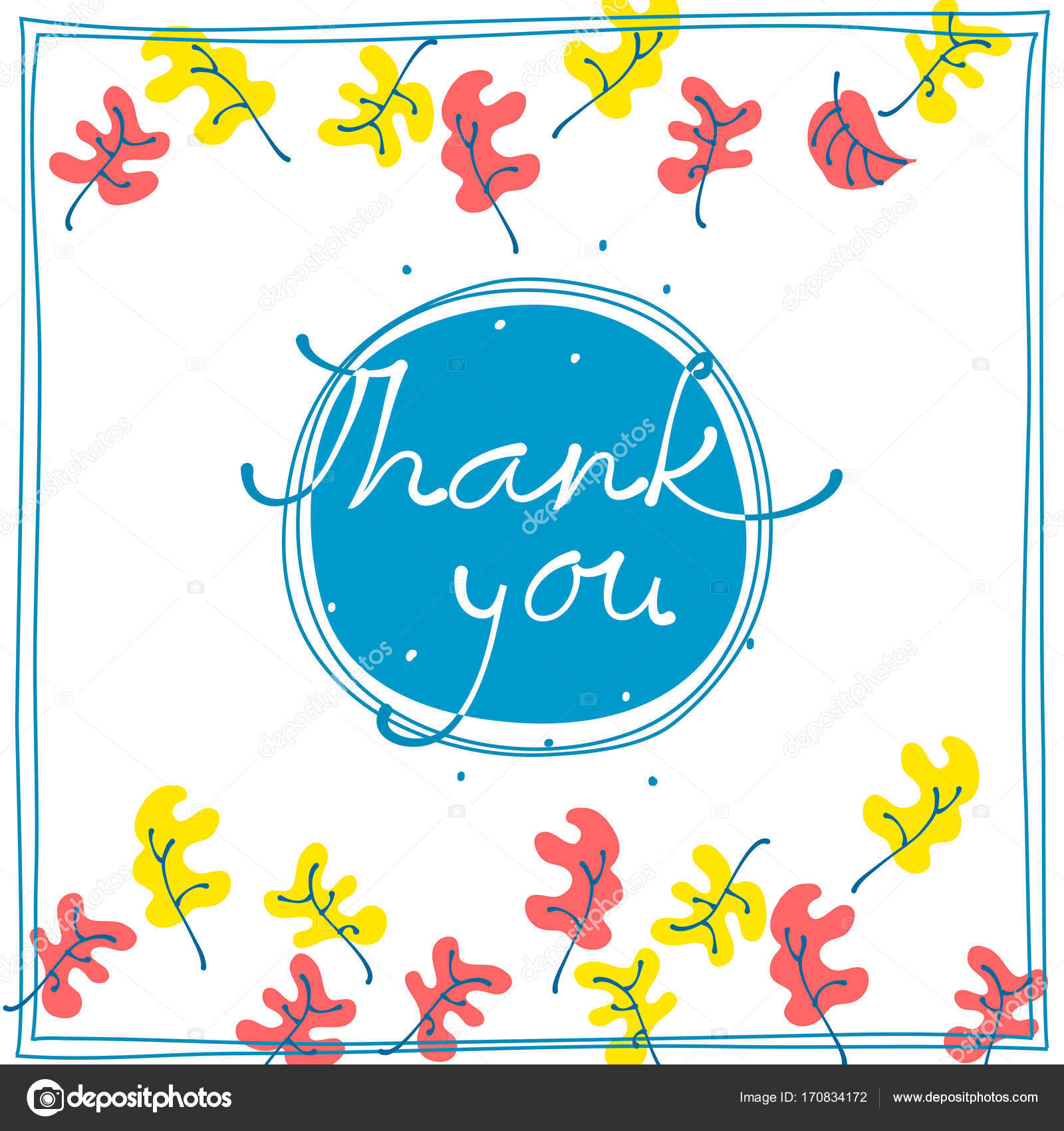 Thank you card design template simple greeting card autumn motif thank you card design template simple greeting card autumn motif stock vector spiritdancerdesigns Choice Image