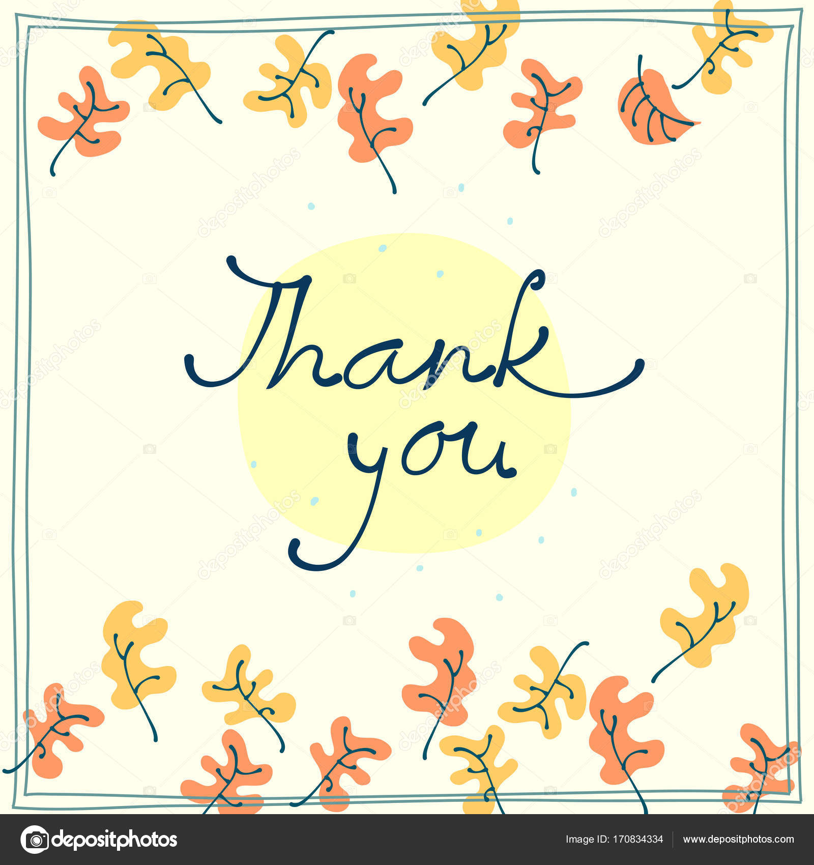 Thank you card design template simple greeting card autumn motif thank you card design template simple greeting card autumn motif stock vector spiritdancerdesigns Images
