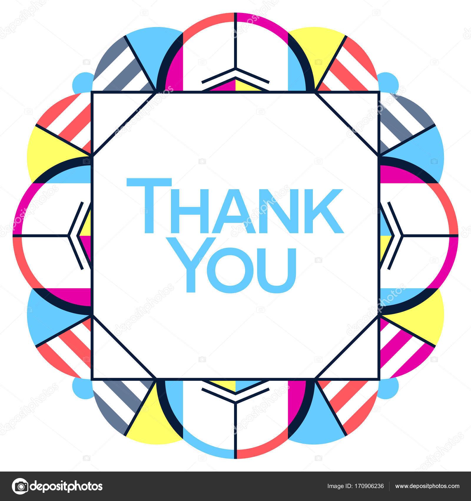 Gracias tarjeta de felicitación diseño de acción de gracias ...