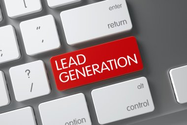 Lead Generation CloseUp of Keyboard. 3D