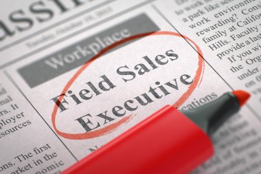 Field Sales Executive Join Our Team. 3D